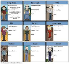best mice and men summary ideas mice and men of mice and men character map storyboard by rebeccaray