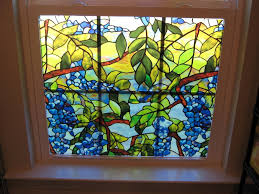 image of diy faux stained glass window