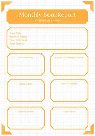 orange grid college book report templates by canva orange grid college book report