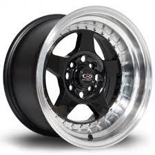 rota wheels 4x100. yamaha black with polish lip rota wheels 4x100