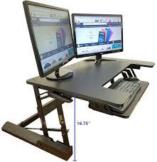 com standing desk height adjule stand up sit stand desks converter standup workstation fits big monitors 36 wide office s
