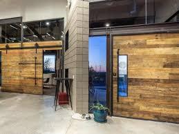 reclaimed wood pivot door sliding door