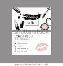 makeup artist business card vector template