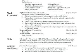 Resume Set Up Resume
