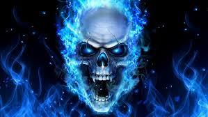 blue fire skull png skull wallpaper