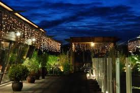 Great Thai Terrace Outdoor Lighting Ideas Combined With Green View Finished  With Green Plants Equipped With