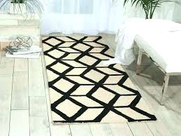 black and white outdoor runner rug grey rugs hallway next day delivery from for bla