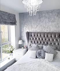 White Grey Bedroom Design Grey Silver White Crushed Velvet Bedroom Modern Decor