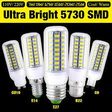 E27 <b>E14</b> B22 GU10 G9 LED Lights <b>Bright Energy Saving</b> Corn Bulb ...