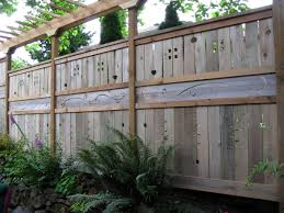 exterior: Gorgeous Pattern On Wooden Fence Which Is Made Using Unique Fence  Ideas Decorated With