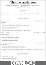 Microsoft Office 2003 Resume Templates Download Free Office Resume