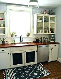 black and white kitchen rug red rugs designs striped checd cotton