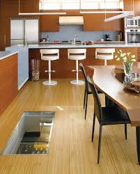 Charming Wine Cellar Spiral Staircase Design Ideas : Inspiring Kitchen  Decoration With Light Brown Wood Kitchen