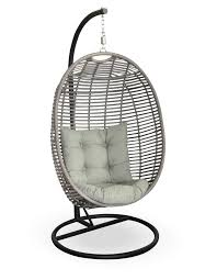 rattan hanging chair ikea with grey tufted cushion seat for home furniture  ideas