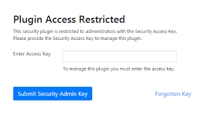 Access Key Help I Cant Remember My Security Admin Key Icontrolwp