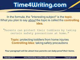 writing a great topic sentence timewriting provides these in the formula the interesting subject is the topic