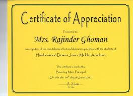 Certificate Of Appreciation Volunteer Work Appreciation Certificate