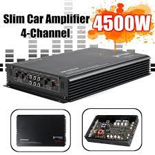 12V 4500W 4 Channel Car Amplifier Powerful Car Audio 3D Subwoofer Aluminum  Alloy Vehicle Power Stereo Amp Car Sound Amplifiers-buy at a low prices on  Joom e-commerce platform
