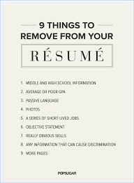 Delightful Decoration What To Put On A Resume What Not To Put In A