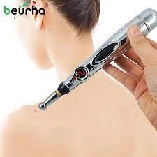 2019 elektronik akupunktur kalem elektrik lazer tedavisi masaj kalemi  akupunktur mıknatıs Heal meridyen enerji kalem ağrı kesici araçları Massage  Stick