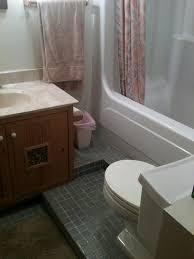 bathtub shower combo before