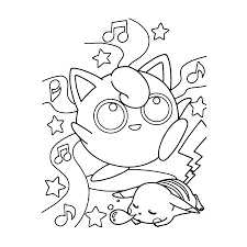 Jigglypuff Evolution Coloring Pages Golfclub