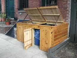 outdoor trash can storage ideas outdoor trash can storage cabinet ideas outdoor garbage storage ideas