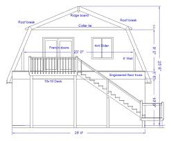 Gambrel Roof  It A Typical Dutch Colonial Architecture This Style Gambrel Roof Plans