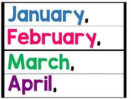 Journeys Kindergarten Months Of The Year Pocket Chart Writing Freebie