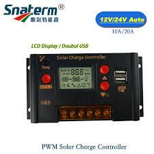 10A-60A Amp <b>12V</b>/<b>24V Solar Panel</b> Charge Controller Battery ...
