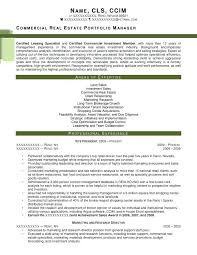 Commercial Property Manager Resume Property Manager Resume