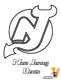 flyers logo outline new jersey devils nhl hockey printables color or doodle