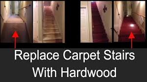 Replacing carpet on stairs with wood Wood Flooring pahjodesigns diy woodworking Youtube How To Replace Carpet Stairs With Wood Flooring Easy Affordable