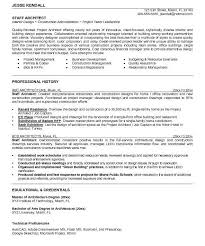 architect resume format architecture resume examples examples of resumes