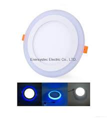 Double Color Led Panel Light Double Color Led Panel Light Dual Color White 12w Blue 4w