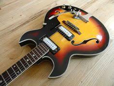 telestar teisco hollowbody 335 style vintage 60s international 1960s trump vintage electric hollowbody guitar by teisco sunburst