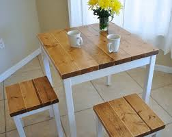 small dining furniture. Farmhouse Breakfast Table Or Dining Set With Without Stools - Small Furniture N