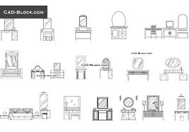 Dressing Tables Cad Blocks Free Download Dwg