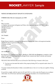 Notice To Tenant To Make Repairs S146 Notice Notice Of Breach Of Covenants Section 146 Notice