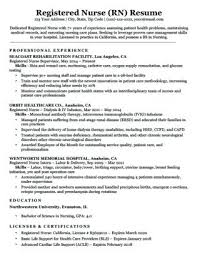 Medical Nurse Sample Resume Magnificent Medical Assistant Resume A Registered Nurse Sample Download Cover