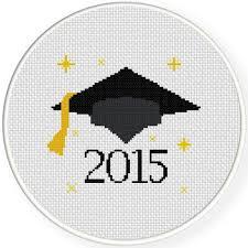Graduation 2015 Cross Stitch Pattern Cross Stitching