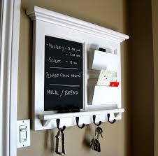 wall mail organizer furniture wood framed cork bulletin board or chalkboard with mail slot storage keyhook home decor coat hook shelf wall mail