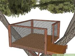 how to build a treehouse. Image Titled Build A Treehouse Step 27 How To