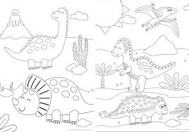 Then he adds a bit of quirky character just for fun. Printable Dinosaur Coloring Pages Made To Be A Momma