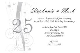 25th wedding anniversary invitations adorable invitation design ideas in smart wedding invitation template 20