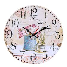 30cm wooden wall clock round vintage rustic shabby chic mute clock for home office cafe wall decoration art large murale big round clocks big round wall