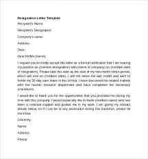 word templates resignation letter sample resignation letter example 10 free documents
