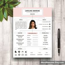 Resume Template + Cover Letter And Portfolio For Ms Word