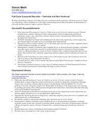 Hr Recruiter Resume Sample Recruiter Resume Sample Aceeducation
