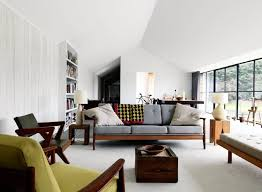 interior design marvelous mid century modern apartment living room design featuring wall bookshelf and wooden